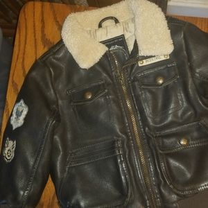 Pacific Trail Faux Leather Bomber Jacket 3T
